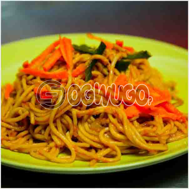 Specially prepared spaghetti which can be eaten at any time of the day and enjoyed by every one