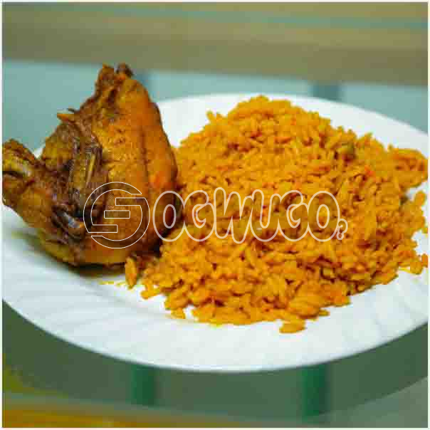 Hot Delicious Tasty Jollof Rice with Grilled Chicken Just the way you want it