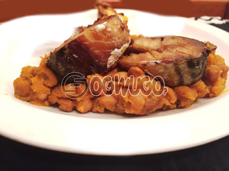 Delicious Porridge Beans with Fresh Fish or Pork Meat, to give you maximum satisfaction and a fill of home made food