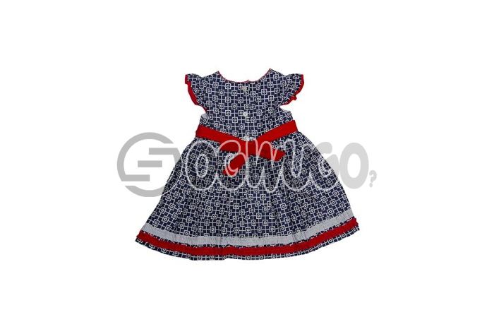 Flowered gymbolee Sweet lovely gown for your little daughter worn by kids between the ages of 0-3 months.