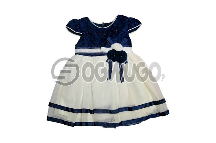 Sweet baby gown(blue+white)size 0-3months,Sweet lovely gown for your little daughter, express your love with this beautiful gown for your baby girl, this lovely blue, and white dress is good for your girl, nice and durable.