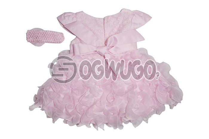 Sweetheart baby gown with hair band specially for your lovely daughters for their birthday and thanksgiving.