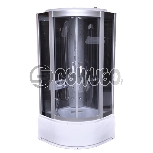 Executive Luxury portable complete steam shower room cabin with bathtub jaccuzi. with Steam Generato: unable to load image