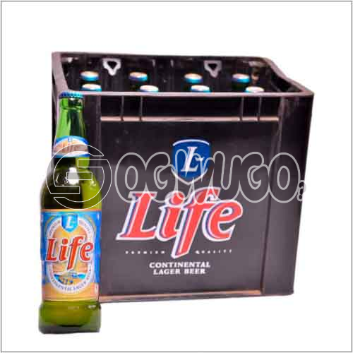 Life Continental Large Premium beer 12 bottles in a crate 60 cl bottle size: unable to load image