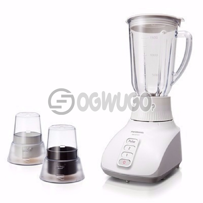 Panasonic blender mx-1521, features the Panasonic Saber Cutter with 2 Dry Mills for excellent blending