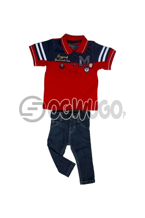 Mayora cloth for boys is worn with Pybb 1999 jean,The outfit is suitable for all event.