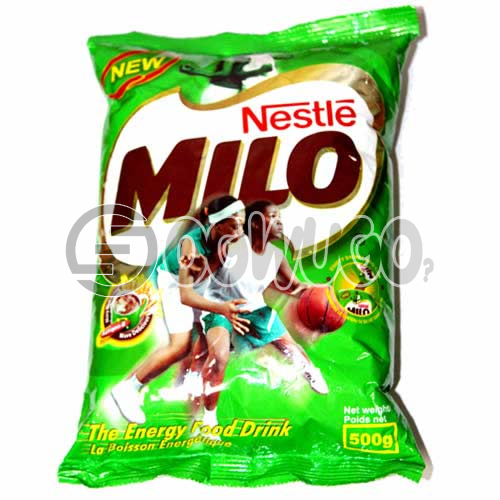 Nestle Milo 500g, Made from the natural goodness of malt, milk and cocoa and is enriched with vitamins and minerals.