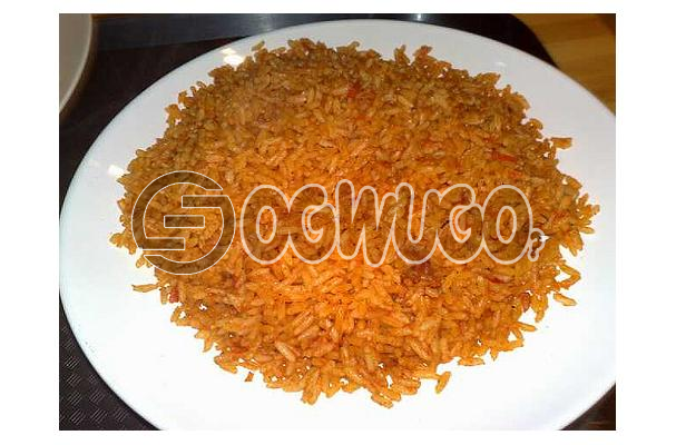 Hot Delicious Spicily Prepared Extra JOLLOF RICE with a very sweet Aroma