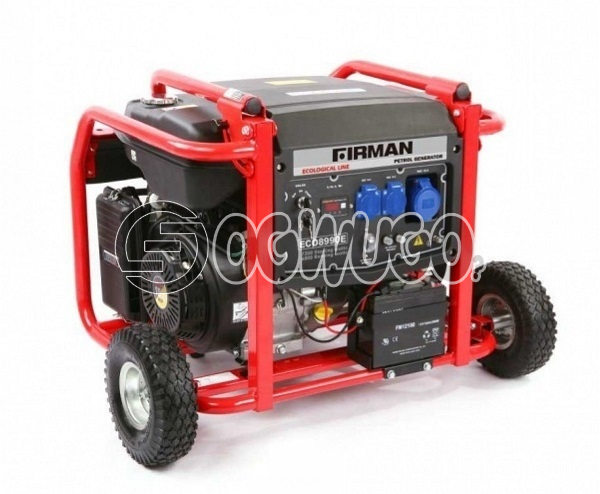 SUMEC FIRMAN GENERATOR ECO 8990ESR WITH REMOTE CONTROL, Sumec Firman Generator.  Model: ECO 8990ESR 7.2KVA AC Frequency (Hz): 50Hz Rated AC Voltage (V): 110,220,230, 240, 110/220, AC Output(W): 6000/6600