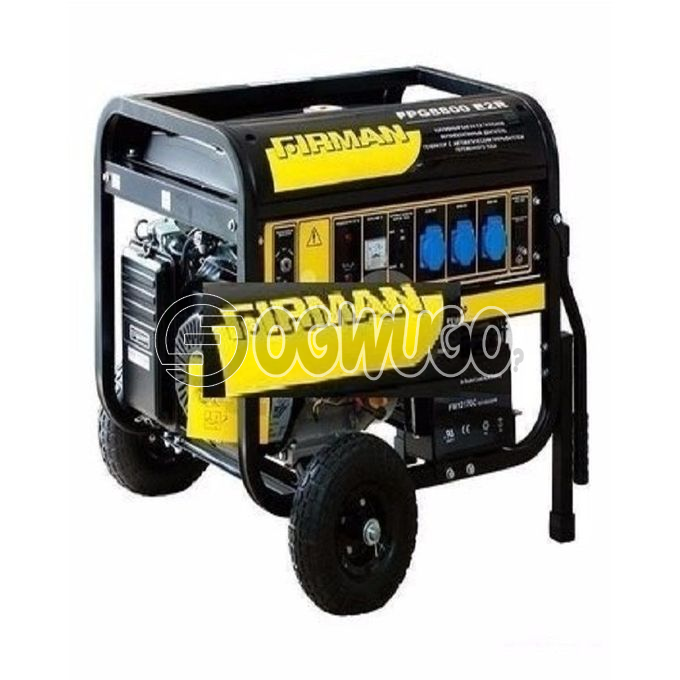 Firman SPG 88000E2, AC Output (220V/50Hz): 6.0kva Max 5.5kva Rated, Fuel Tank Capacity: 25L, Starting System: Recoil+Key.