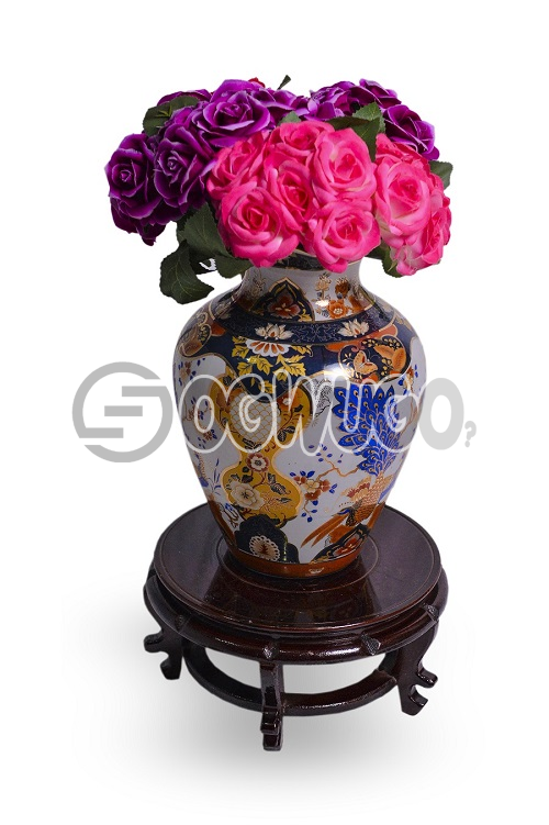 flower vase with wooden stand,it gives you that beautiful home you always dream of.