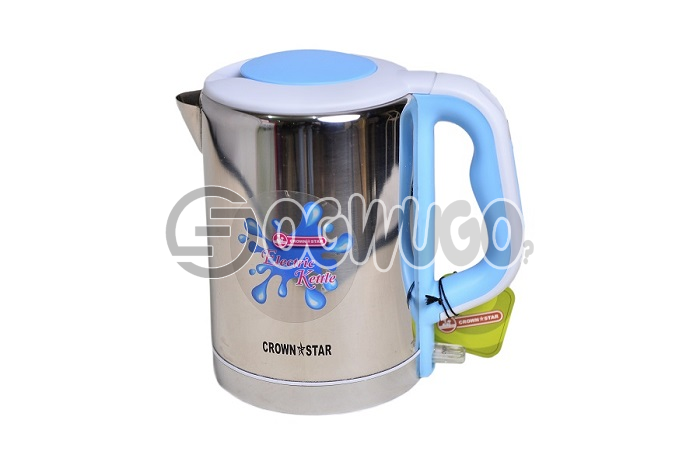Elegant electric kettle,This kettle is fitted with a concealed element due which it can be used for
