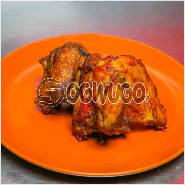 A portion of fresh Grilled Chicken which is well garnished with assorted ingredient just the way you