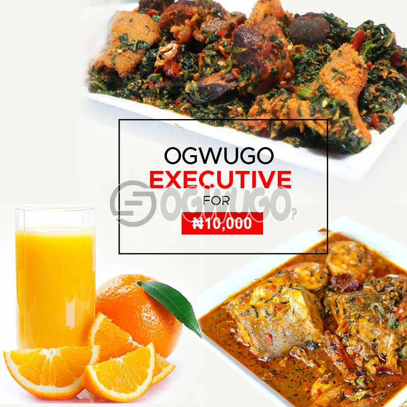 EXECUTIVE BUNDLE  (once subscription for this package is made, we will start delivering food to you from the next day for 5 working days according to the food menu. Please  select your meal for the day below)
