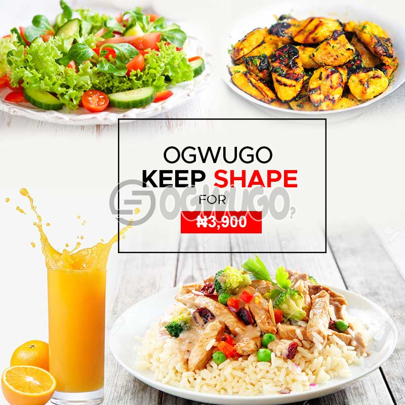 OGWUGO KEEP SHAPE (Once subscription for this package is made, we will start delivering food to you from the next day for 5 working days according to the food menu. Please select your meal for the day below