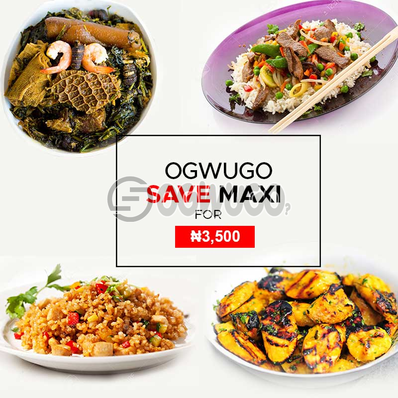 Ogwugo chop and save maxi (once you subscribe for this package we will start delivering food to you from the next day for five working days according to the food menu. So  select your meal for the day below): unable to load image