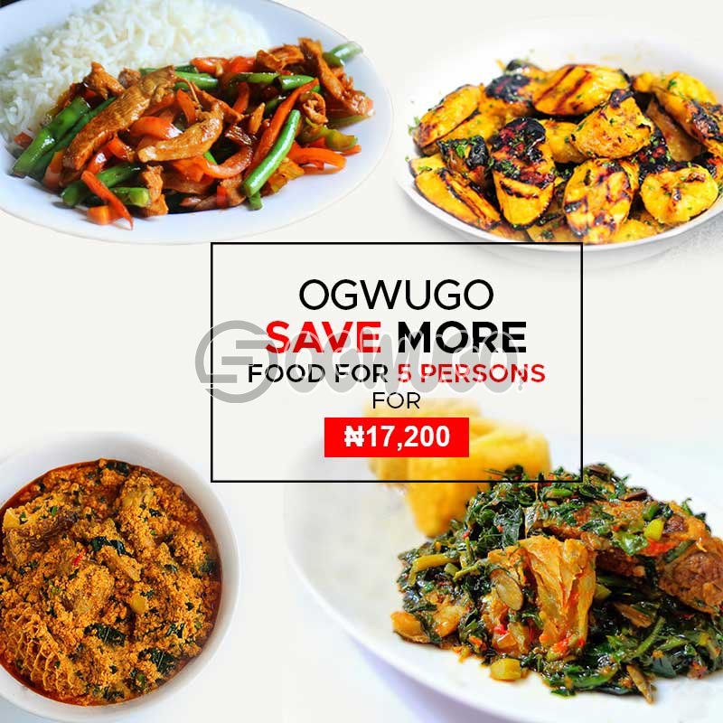 Ogwugo Save More (5 Peoples package) (once subscription for this package is made, we will start delivering food to you from the next day for 5 working days according to the food menu. Please  select your meal for the day below)