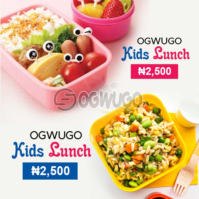 OGWUGO Kids lunch (for one kid) (Once subscription for this package is made, we will start delivering food to you from the next day for 5 working days according to the food menu. Please select your meal for the day below