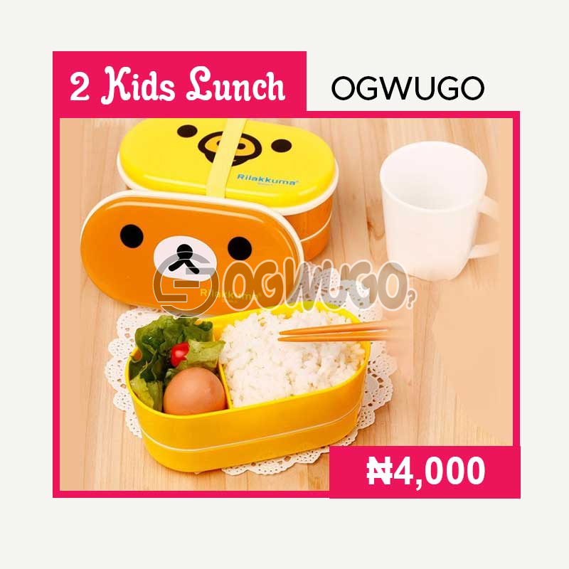 OGWUGO Kids lunch (for two kid) (Once subscription for this package is made, we will start delivering food to you from the next day for 5 working days according to the food menu. Please select your meal for the day below