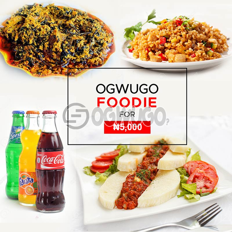OGWUGO FOODIE  food promo package (once subscription for this package is made, we will start delivering food to you from the next day for 5 working days according to the food menu. Please  select your meal for the day below)