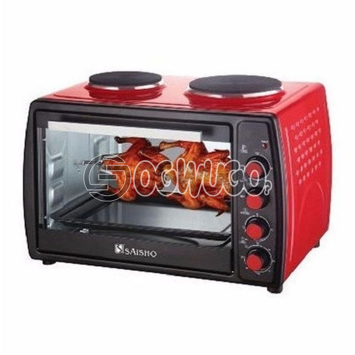 Saisho Electric Oven With Double Hot Plate - 50Litres