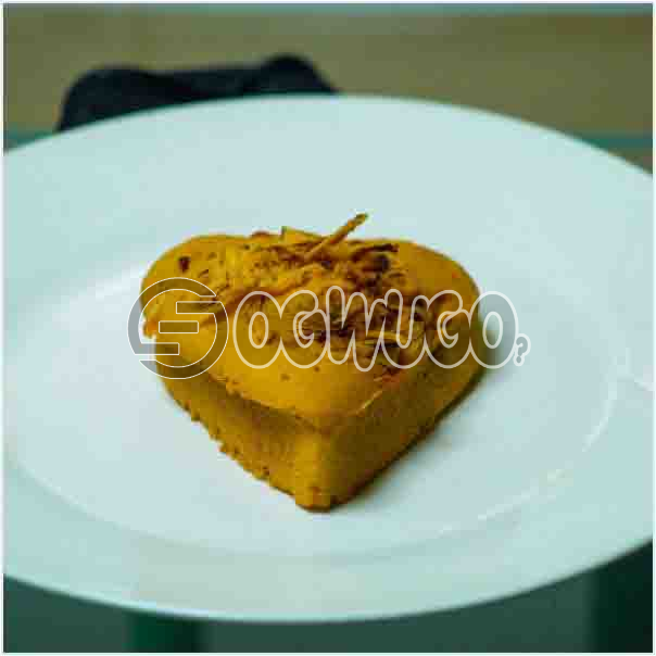 Single Sweet and well baked Heart cake tasty and can be eaten by every one: unable to load image