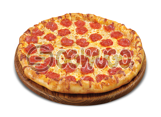 Pepperoni Pizza (MEDIUM) Made with Mushroom, Pepperoni, Sausage, Cheese and Tomato Sauce