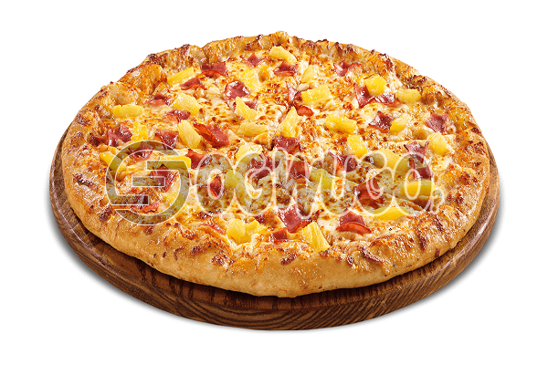 Hawaiian Pizza (LARGE) Made with Onion, Green Pepper, Ham and Pineapple ideal for Parties, Hangouts and Get together.