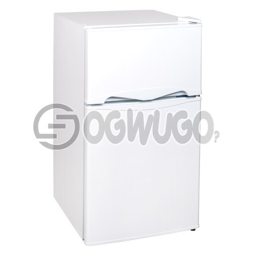 Thermofrost Fridge Model 96 Double Door. Interior Light, High Efficiency Compressor, Separate Chiller Compartment, and Mechanical Temperature Control
