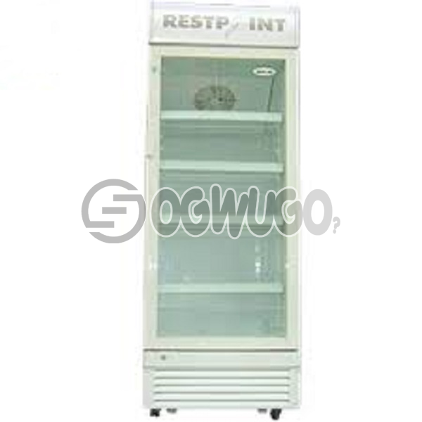 RestPoint ShowCase Cooler RP-480SC, Transparent double layers glass door, Ventilating cooling system,  Movable shelves for different requirement