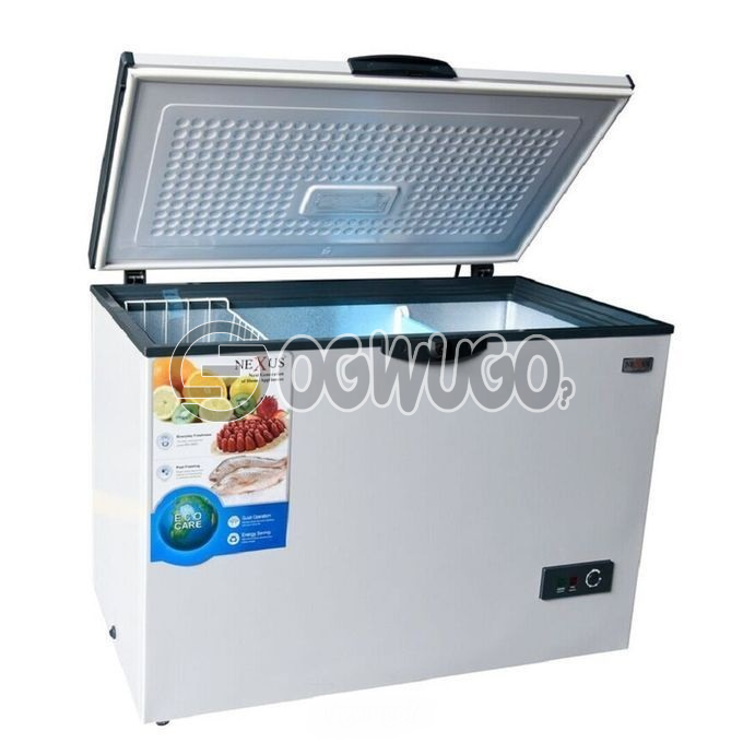 Nexus NX-390C Nexus Chest Freezer 327 Litres, Fast Freezing Function, Removable Storage Basket please order now and we will deliver to your doorstep