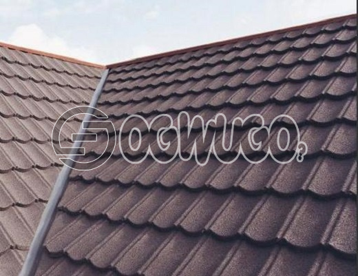Classic Light Weight Roofing Tile. Stone chip coated metal roofing tile. Sold Per Square Meter.