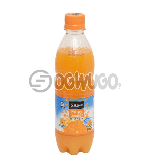 Five Alive Pulpy Orange Fruit Pet Drink  40cl Bottle Size. Rich in Vitamin C and E