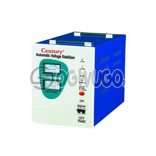Century AUTOMATIC VOLTAGE STABILIZER  CVR TUB 1500VA, Capacity: 1500 VA For Lcd TVs, Fans, Home Theater, computers, 1HP Fridge Output 230V 50hz Delay Mechanism for extra protection.