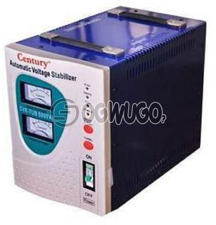 Century Century 5000W TUB 5KVA Stabilizer, 5000VA Capacity Stabilizer For very large chest freezers and Air conditioners (split units) Output: 230V, 50hz